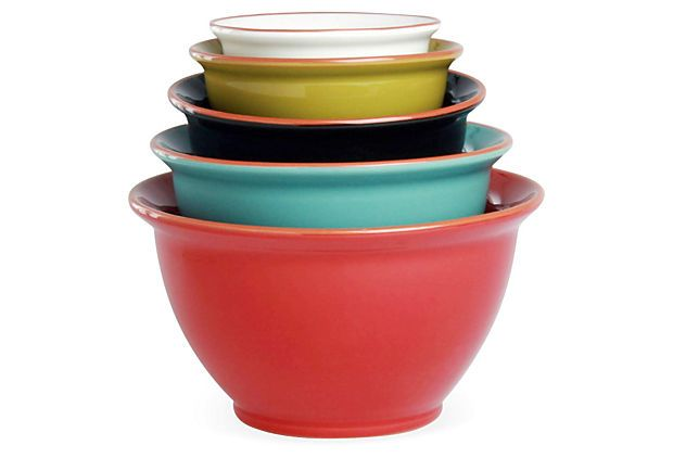 Asst of 5 Terra Glazed Mixing Bowls on OneKingsLane.com