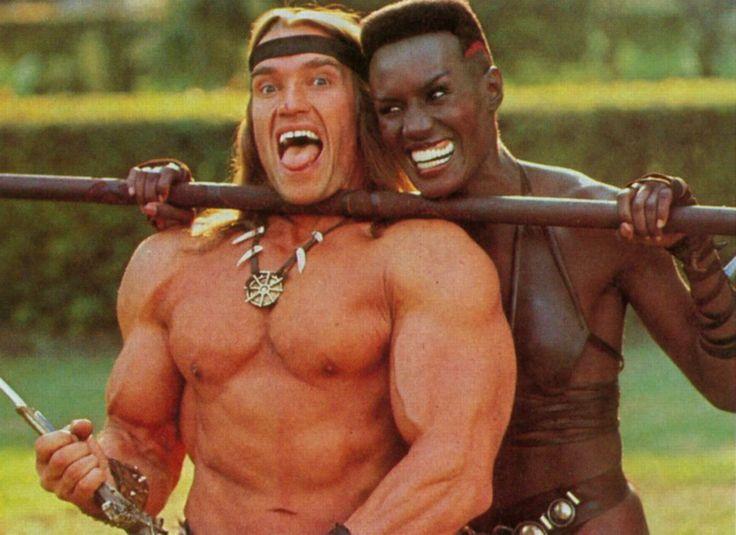 Arnold Schwarzenegger & Grace Jones in #ConanTheDestroyer (1984)