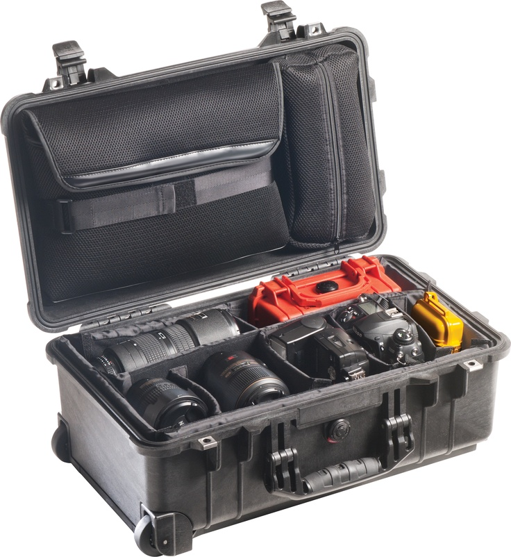 Peli 1510SC Studio Case. Watertight case designed for photography  and video production professionals who want to protect their laptops,  lenses and any sensitive equipment in the field.