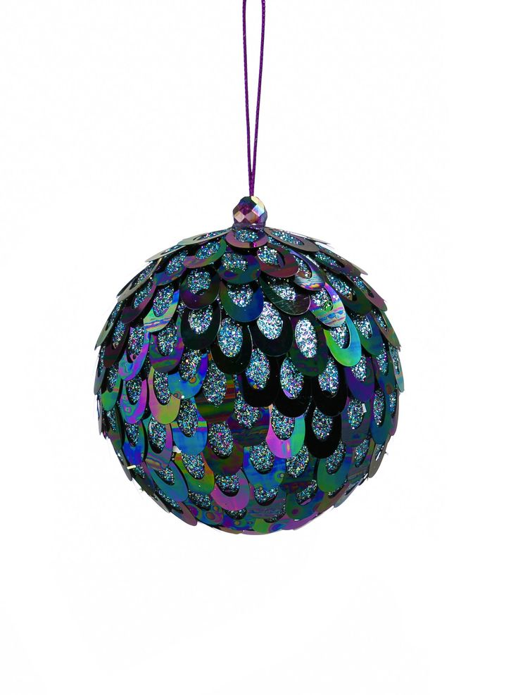 Dazzling Sequin Ball Ornament