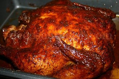 Rotisserie Style Sticky Chicken  5 hours slow cooked