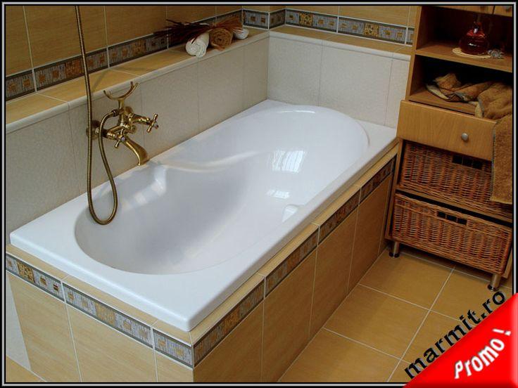Cada baie compozit marmura Fatima 160 cm