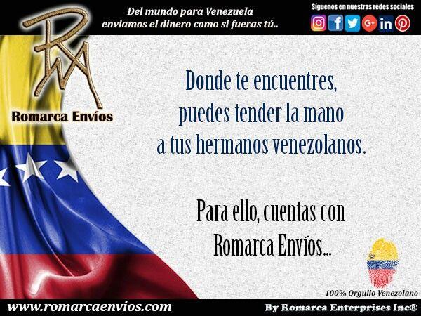 Recuerda que puedes contar con #RomarcaEnvios #EnvioDeDinero #VenezolanosEnElExterior