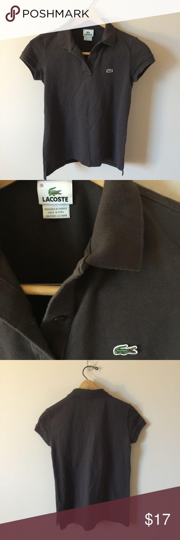 Lacoste Polo Shirt Brown Lacoste Polo Shirt. Size 36. 100% cotton. EUC! Lacoste Tops