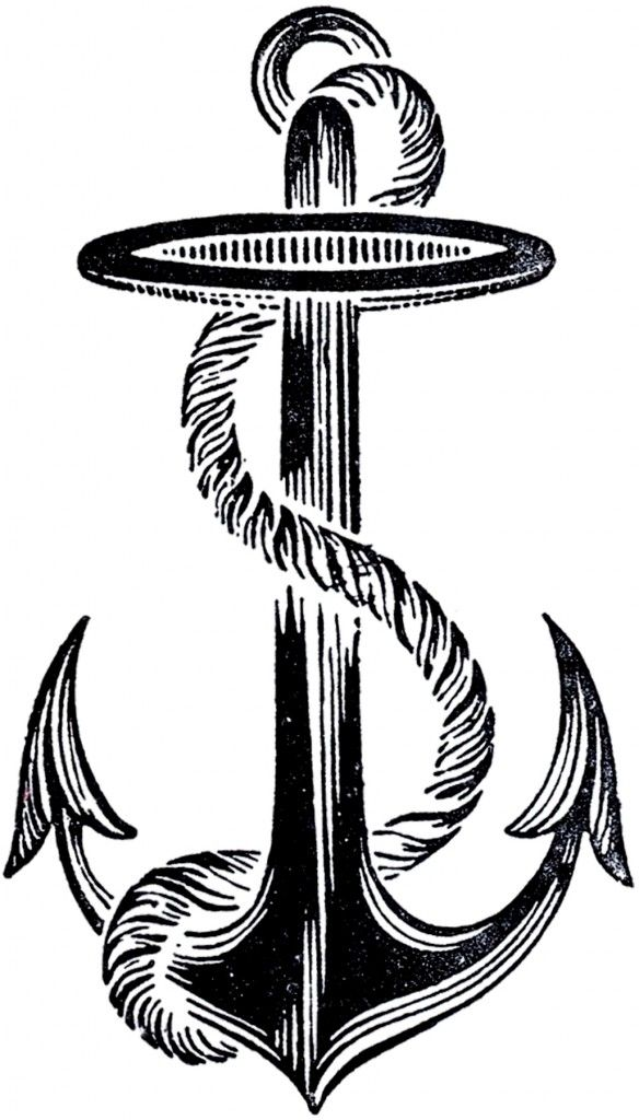 Best Vintage Anchor Image! - The Graphics Fairy
