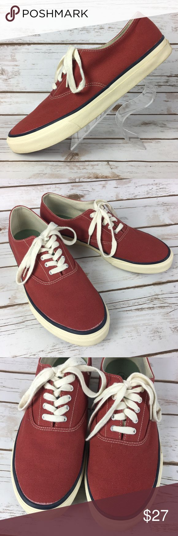 Sperry Top Sider Canvas Shoes Men's 10.5 M EUC These shoes are in very good, lightly worn condition. Minor scuffs, scratches and marks from wear. Please see pics for more details (: Sperry Top-Sider Shoes Sneakers