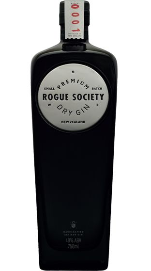 Rogue Society Premium Dry Gin (750ml) from New Zealand (Gin Bottle Design)