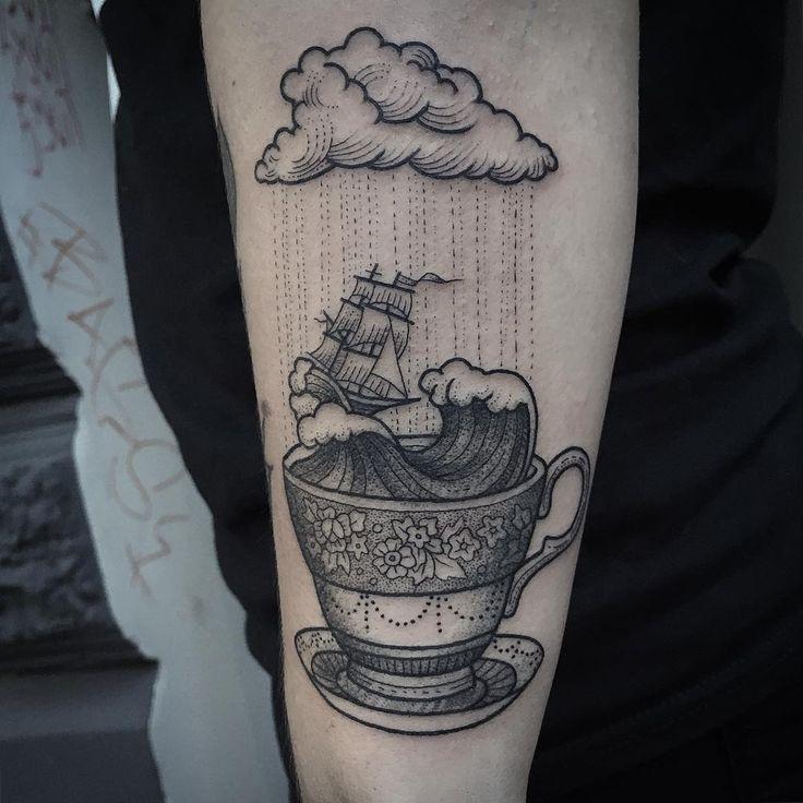 Stormy teacup by Susanne König, Germany