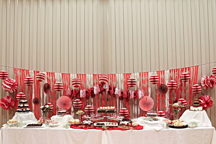Relief Society Red and White Party.  Dessert Table: Church Ideas, Soc Ideas, Society Ideas, Rs Ideas, Church R Ideas, Saturday Ideas