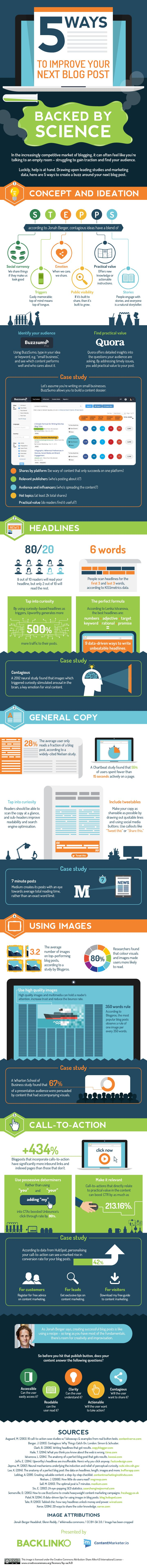 #Blogging Tips: 5 Ways To Improve Your Next Blog Post (Backed By Science) - #infographic