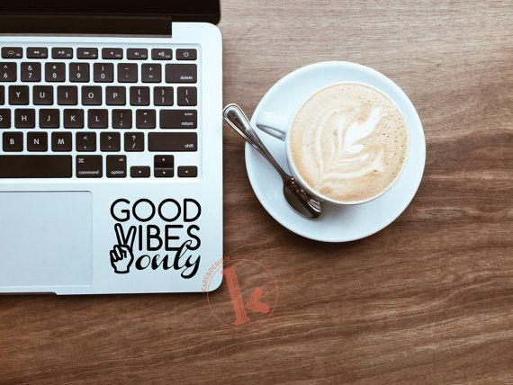 Good Vibes Only Vinyl Decal Sticker  laptop by KareAndDesign