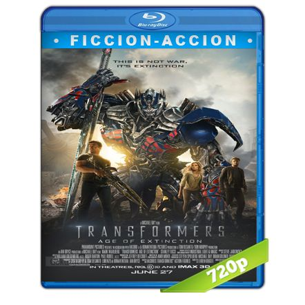 Transformers 4 La Era De La Extincion HD720p Audio Trial Latino-Castellano-Ingles 5.1 (2014)
