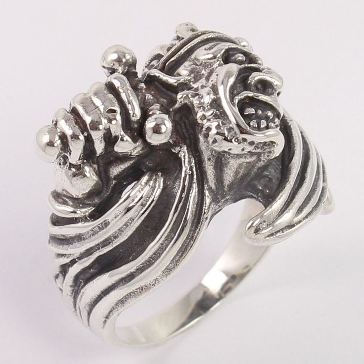 Vintage 925 Solid Sterling Silver Men's Jewelry Bikers Finger Ring Size US 12 #Unbranded
