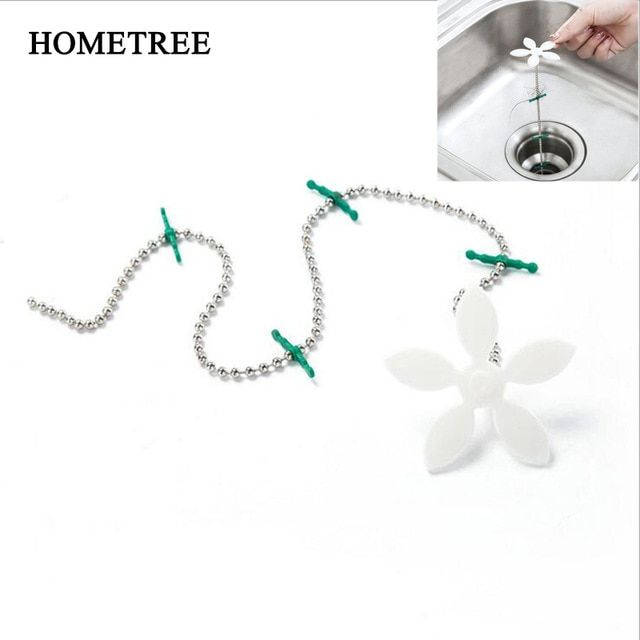 Hometree Chain Bathroom Hair Sewer Filter Drain Cleaners Outlet Strainer Kitchen Anti Obstruction Hair Removal Clog Tools H1067 Review Drain Cleaners Sewer Cleaners