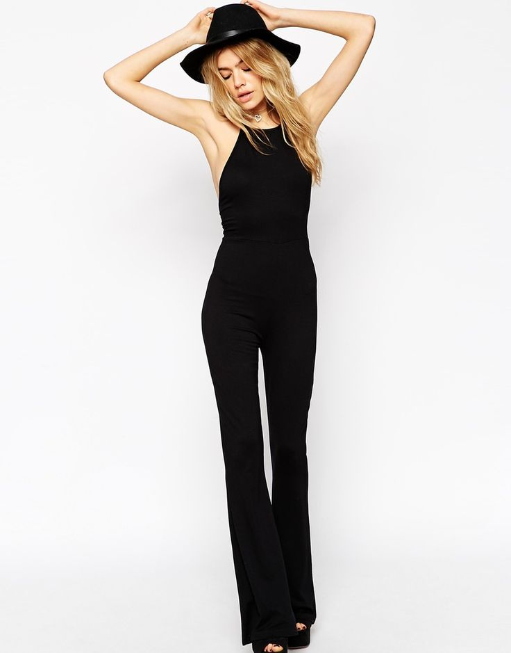 Image 4 of ASOS Flare Jumpsuit With Halter Neck