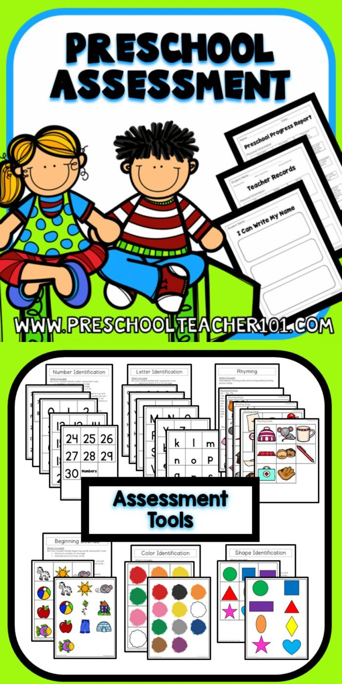 Preschool Assessment Pack | Kid Blogger Network Activities & Crafts ...