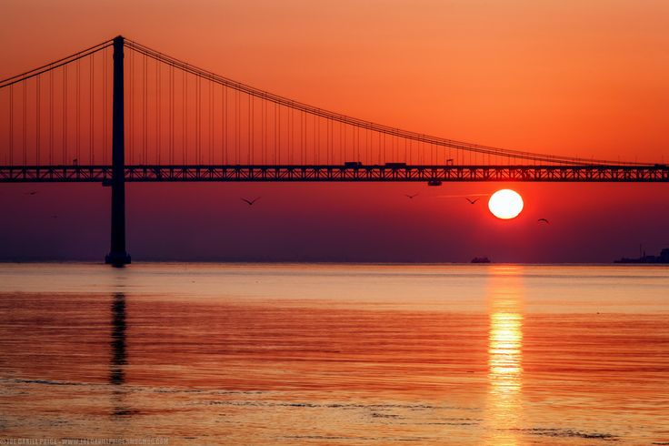 Sunrise at the 25 de Abril Bridge, Ponte 25 de Abril, Belem, Lis by Joe Daniel Price on 500px