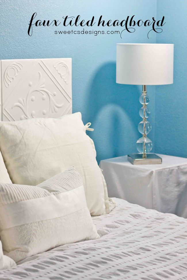 Faux tiled headboard sweet lamps and dr who for Fake headboard