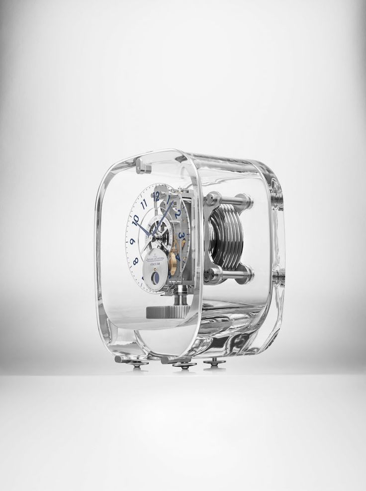 Atmos 568 by Marc Newson crafted in a Baccarat crystal cabinet