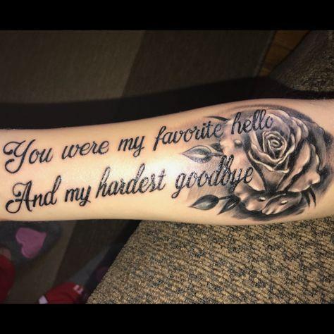 """Citações de tatuagem – """"Você era meu olá favorito e meu adeus mais difícil""""   – Tattoos"""