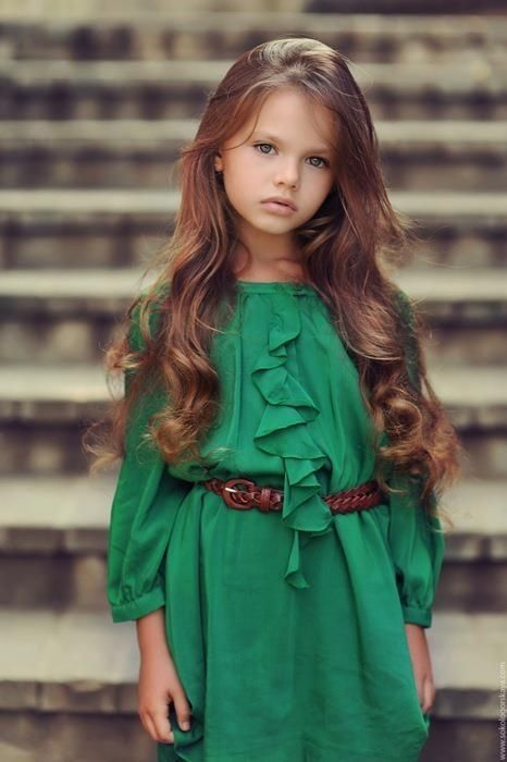 This little girl has the most beautiful hair! This is how I