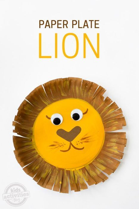 Paper Plate Lion Here's a cute kids craft. You start with a simple paper plate. #kidscrafts