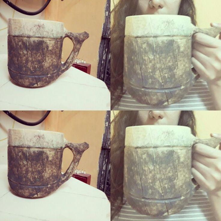 Chop vikingo  de 1 litro, realizado en torno alfarero. https://www.facebook.com/amayceramica/