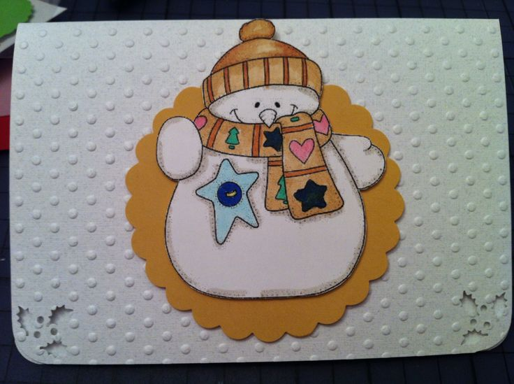 """""""Young Lady"""" - A collection that covers 12 months of stationary needs.  Winter holidays Embossed paper; diecut and stamped; Copic markers used to color the stamp;"""