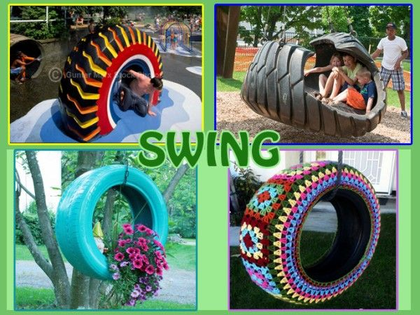 Toddlers Playground Made from Recycled Tires