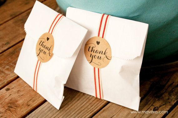 Wedding Favor Stickers - Wedding Favors, Jam Jars, Party Favors, Shower Favors - Thank You - 25 Stickers