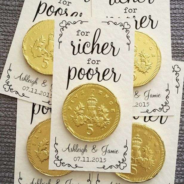"""For Richer or Poorer"" wedding favor"