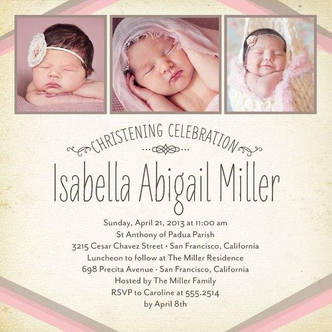 BANDED BEAUTY: BLOOMBAPTISM, CHRISTENING INVITATIONS