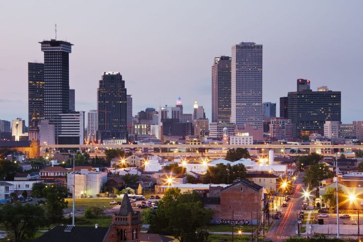 New orleans skyline city skylines pinterest