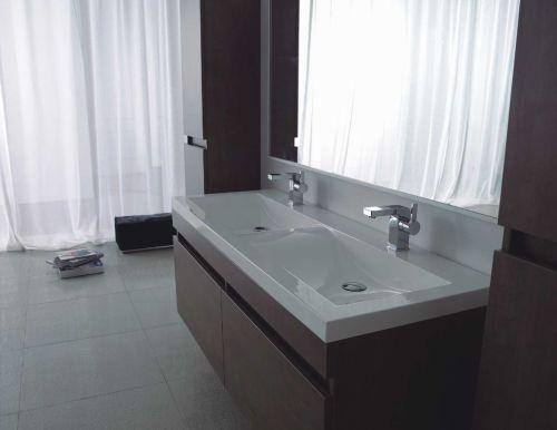 Epic Details zu Doppel WASCHTISCH Badezimmerm bel Waschplatz Badm bel wei hochglanz