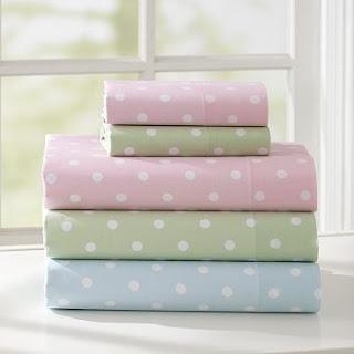 Bed linen.Pink Sheet, Lights Pink, Sheet Sets, Dottie Sheet, Pale Dottie, Beautiful Bedlinen, Beds Linens, Bedrooms Style, Pb Teen