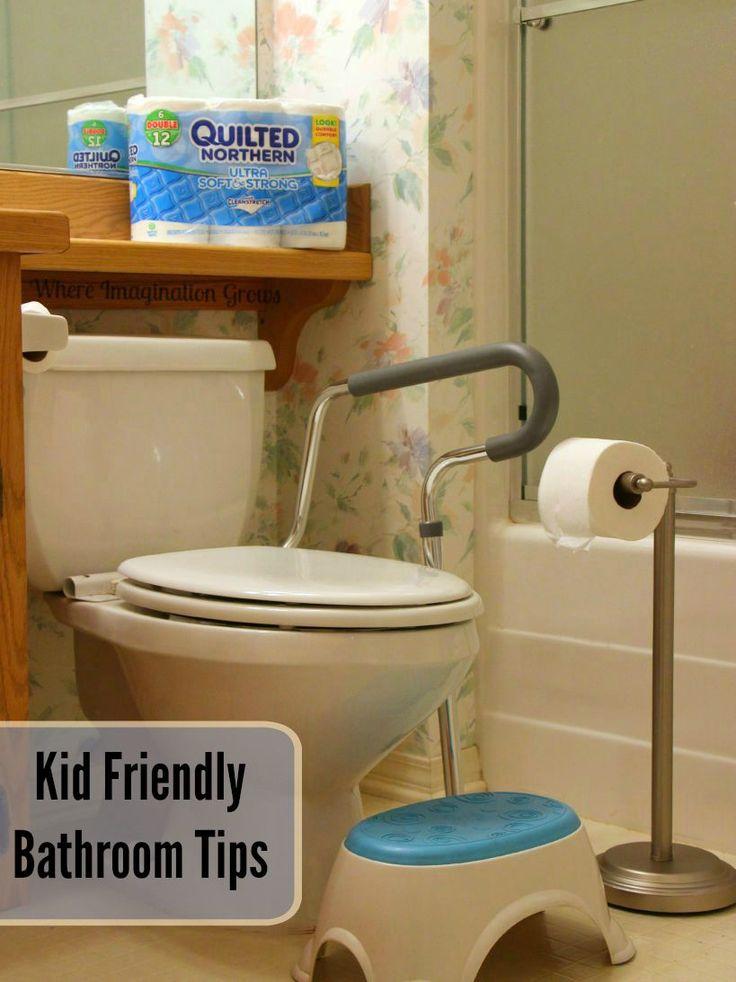 Kid friendly bathroom hacks for busy families home for Preschool bathroom ideas