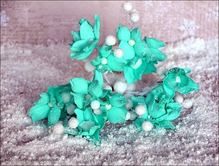 Kwiaty z foamiranu. / Handmade Foam Flowers.