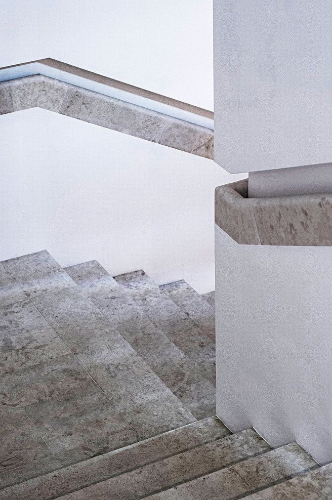 integrated marble hand rail
