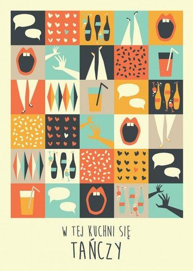 Plakat Kuchnia by Pola Augustynowicz