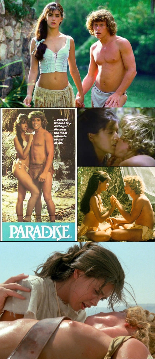 Phoebe Cates & Willie Aames in Paradise (1982) — a rather blatant knockoff of 1980's Blue Lagoon