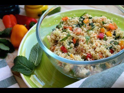 Tabulé (ensalada árabe d cuscús) AQUI verds son crudas aliñada c hirba buena, rucula, limon vinagre y aceite - es para verano - YouTube