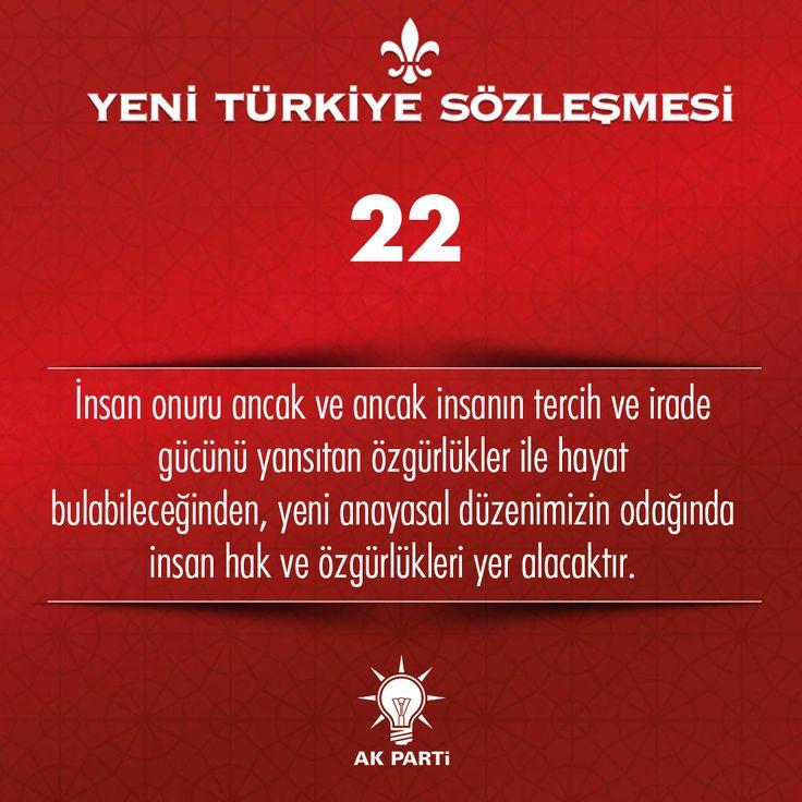 22.Madde, #YeniTürkiyeSözleşmesi