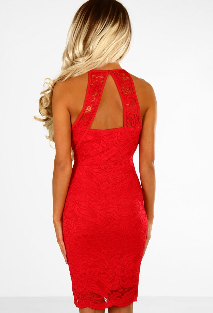 Ace In Lace Red Lace Bodycon Mini Dress
