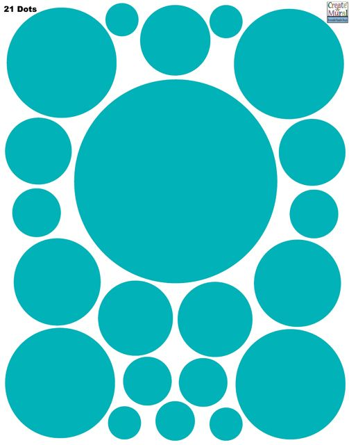 Create-A-Mural - Polka Dot Decals- Teal Wall Stickers, $9.99 (http://www.create-a-mural.com/polka-dot-decals-teal-wall-stickers/)