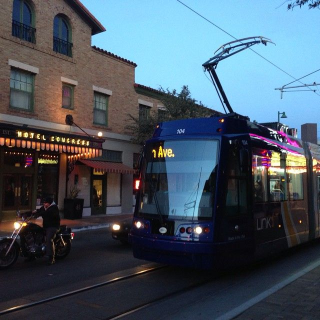 Hop the Sun Link Streetcar and cable your way through the heart of downtown  Tucson,