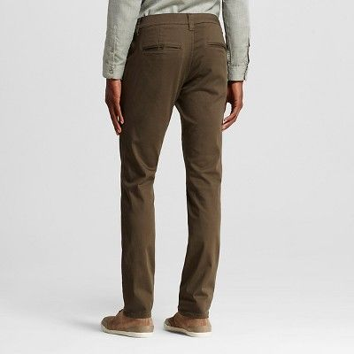 Chor Men's Slim Fit Stretch Tapered Chino Pants - Olive (Green) 30x30