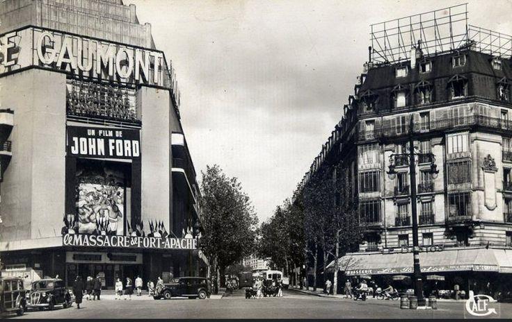 La place de Clichy et le Cinéma Gaumont, vers 1950 (Paris ...