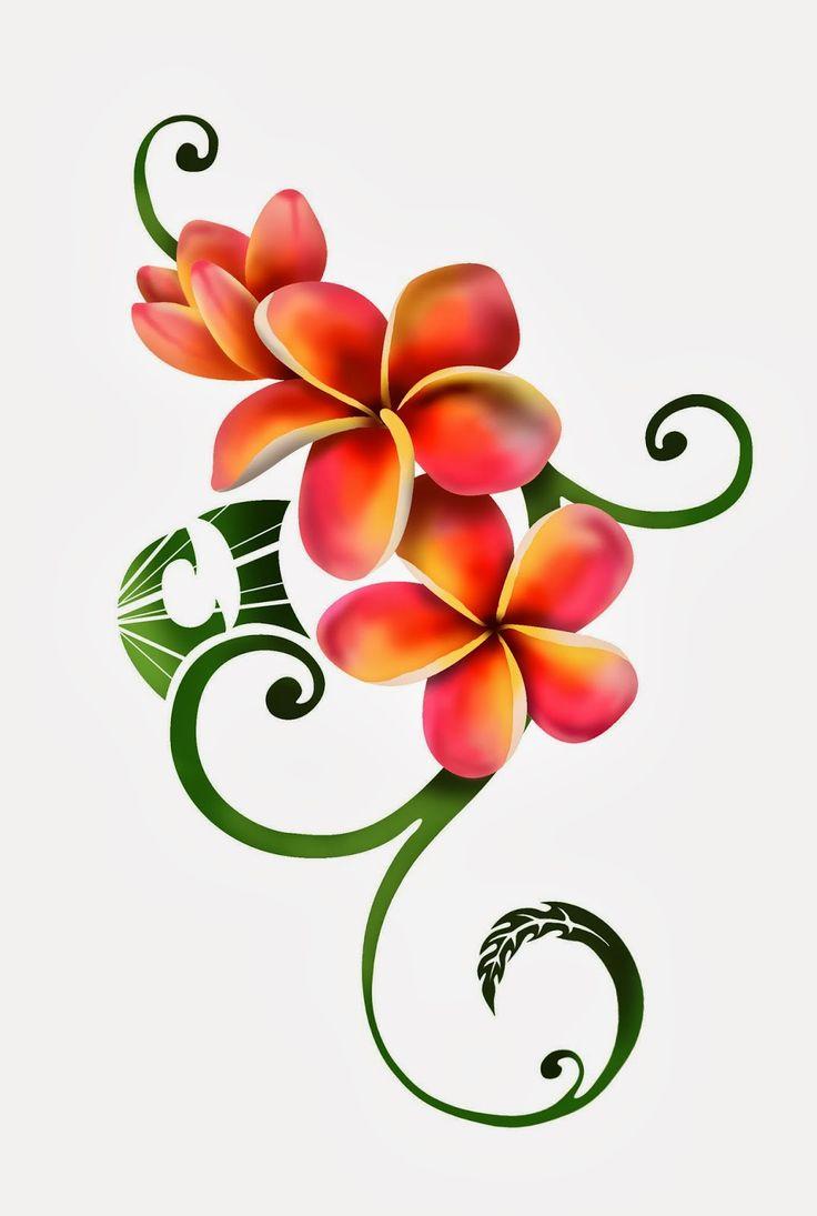 Plumeria Tattoo Designs 1
