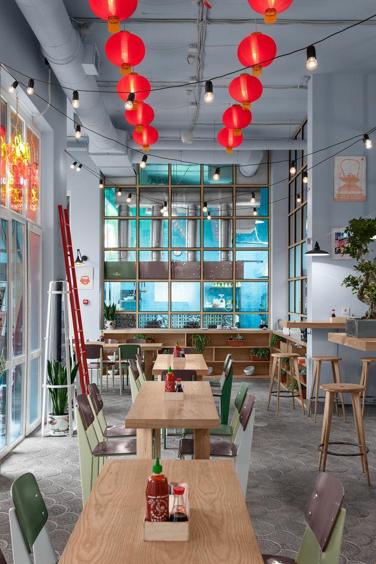 KITAIKA reatraunt Kyiv, Ukraine AKZ Architectura #interior #design #reatraunt #ukraine #kyiv #chinese #food