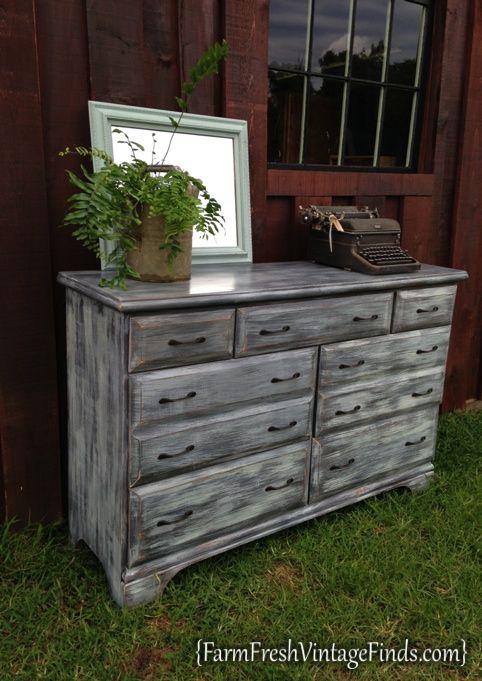driftwood dresser after